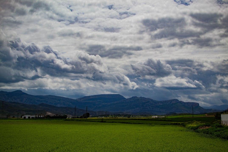 Südspanien Berge Wolken