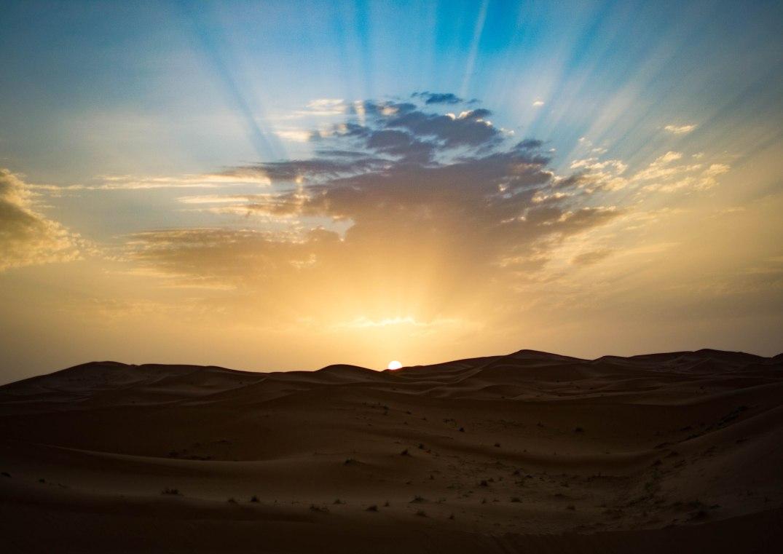 Wüste Dünen Sonnenaufgang